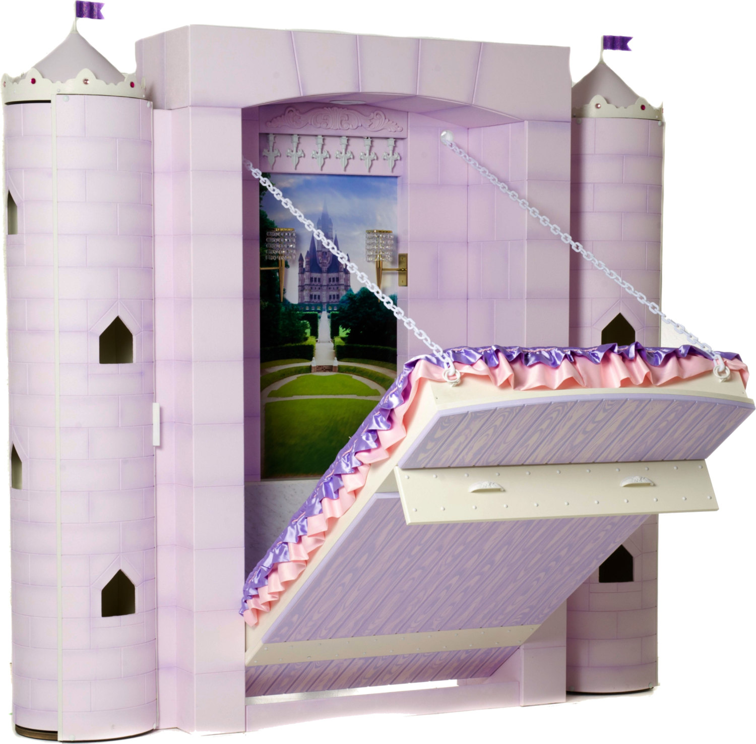 Bedroom clipart castle. Princess bed for girl