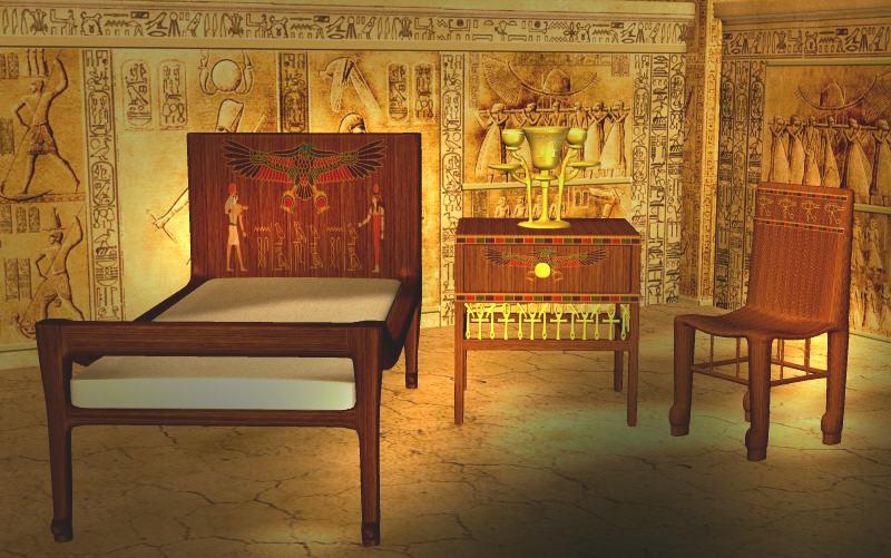 Dev egyptian set . Bedroom clipart castle