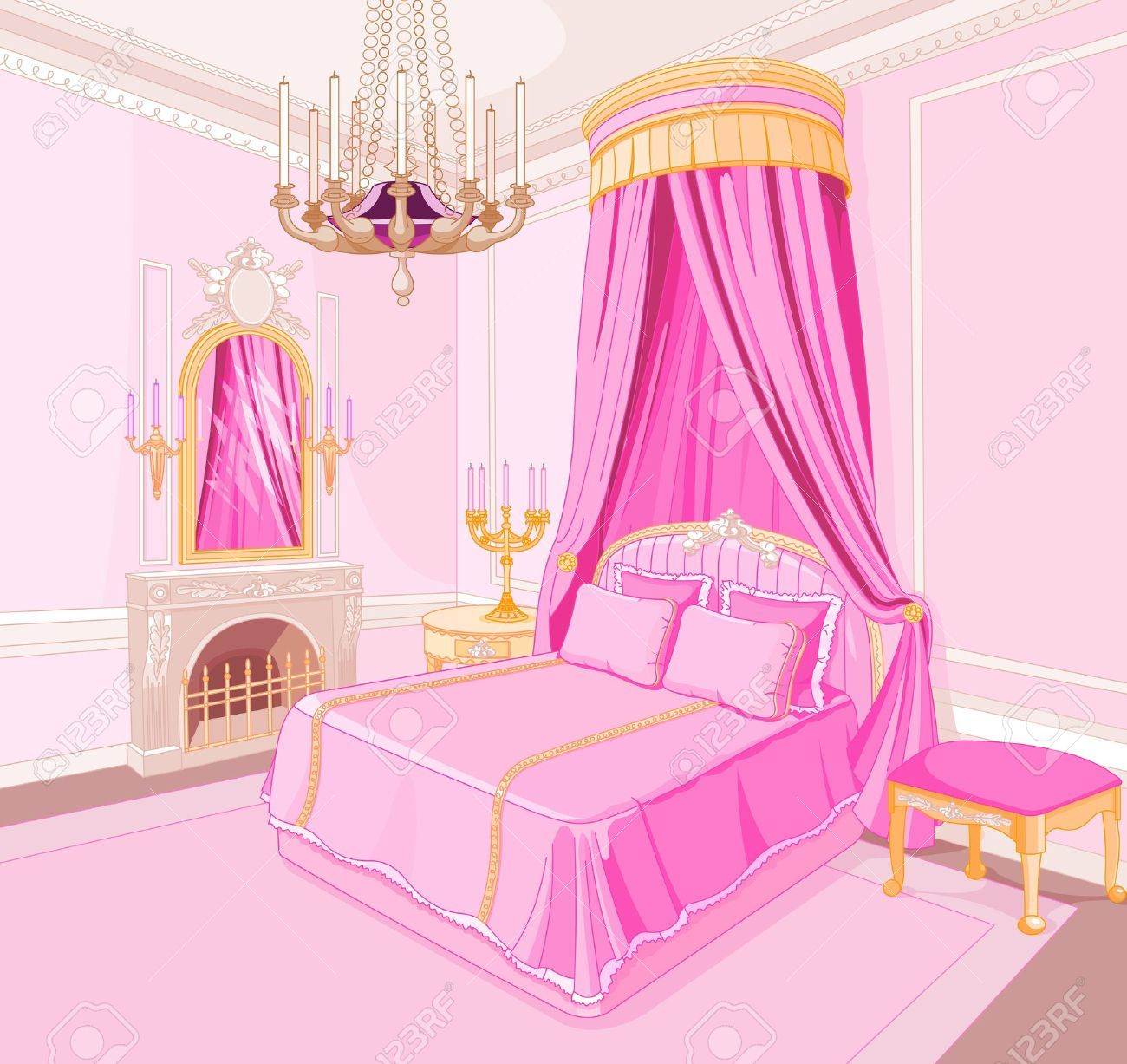 Living Room Background Animated: Bedroom Clipart Castle, Bedroom Castle Transparent FREE