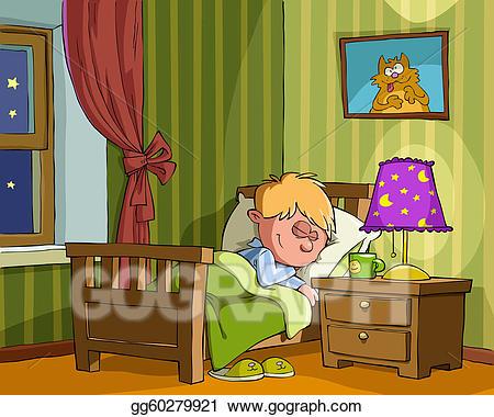 Vector art childrens eps. Bedroom clipart child bedroom