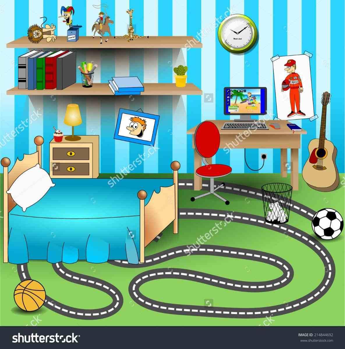Bedroom clipart children's. Kids bobayule trending decors