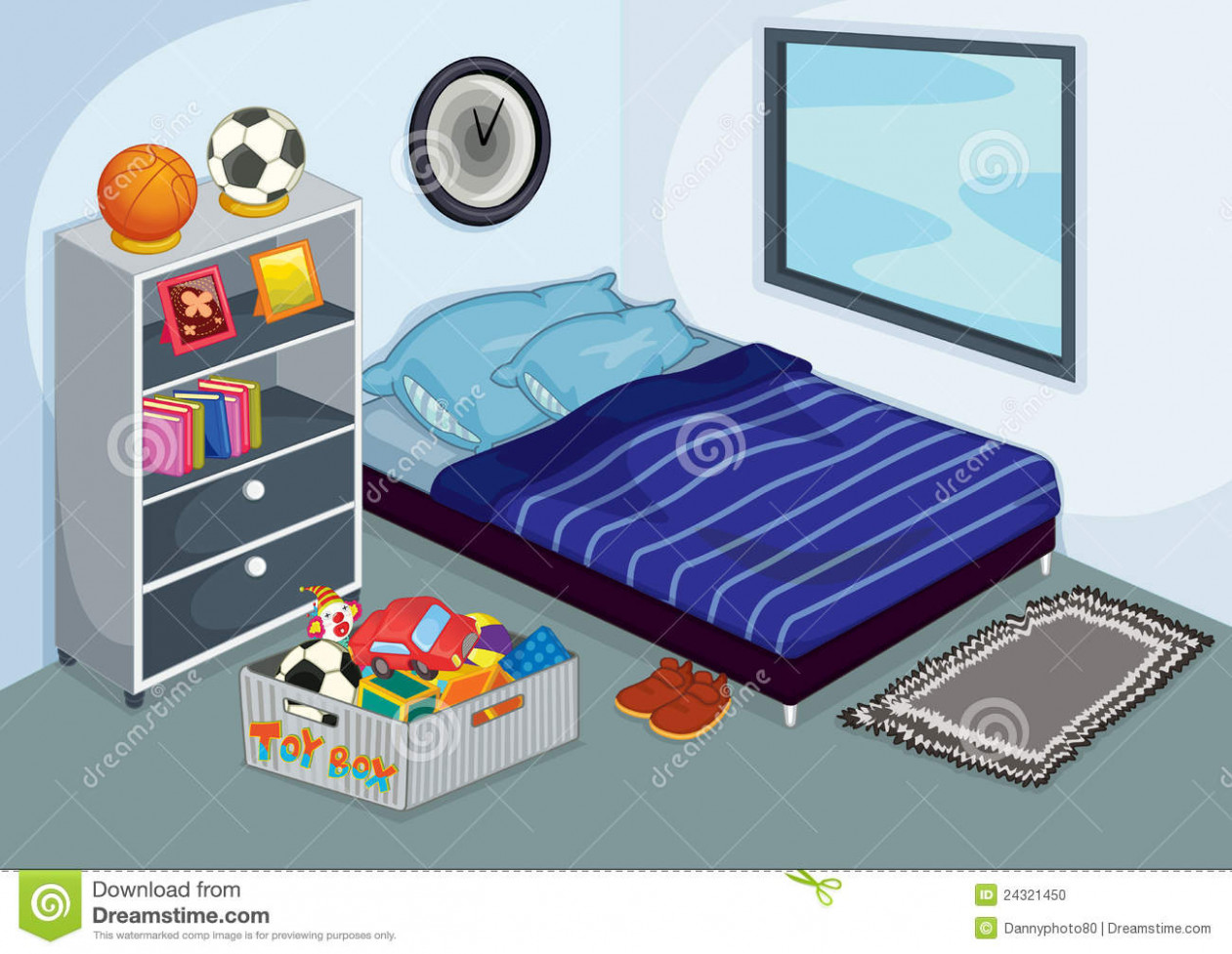 Bed childrens free on. Bedroom clipart children's
