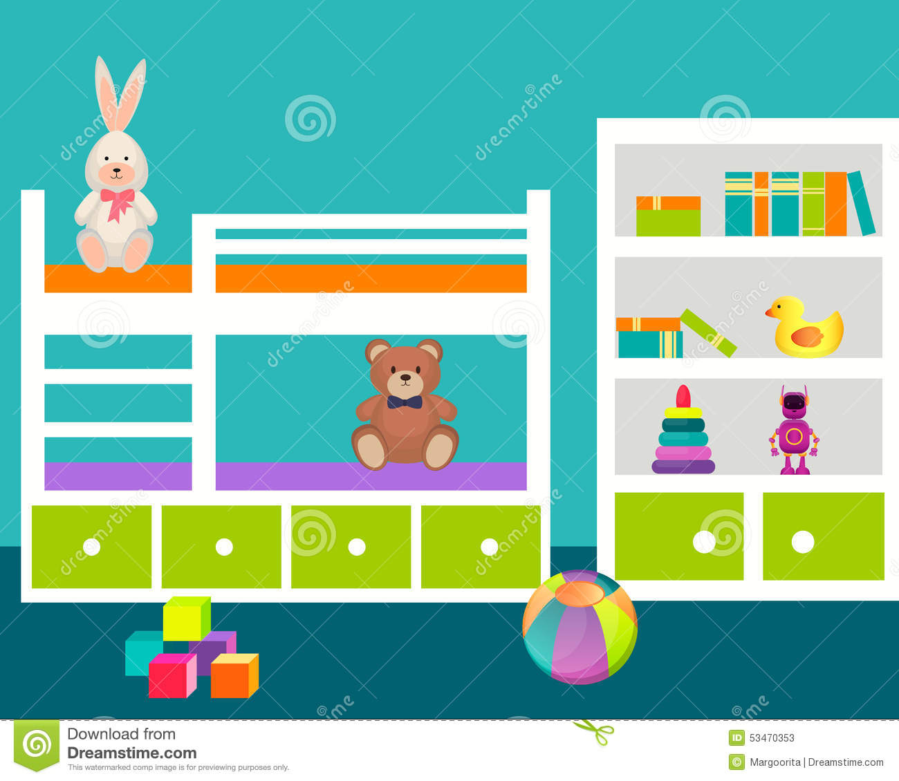 Bedroom clipart children's. Childrens room pencil and