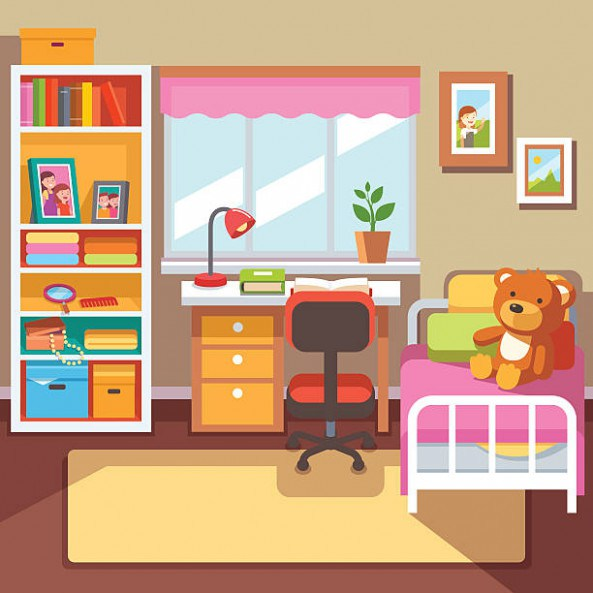 Childrens pencil and in. Bedroom clipart children's