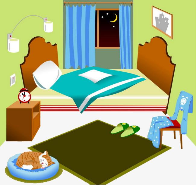 Indoor scenes children s. Bedroom clipart children's
