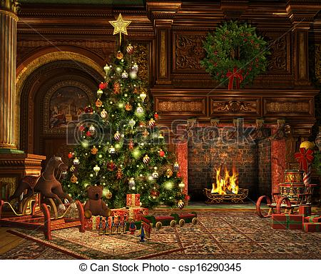 Bedroom Clipart Christmas Bedroom Christmas Transparent