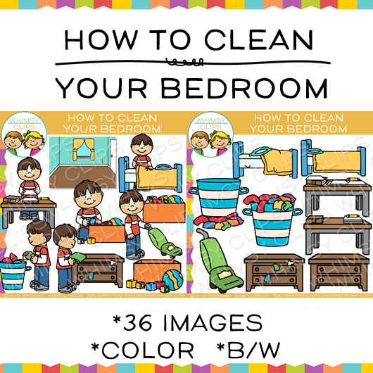 Clean clipart. How to your bedroom