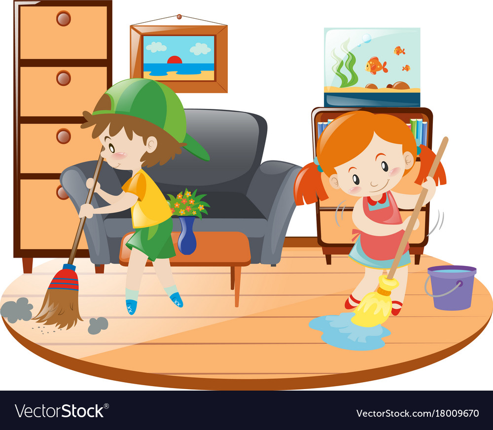 Bedroom clipart cleaning, Bedroom cleaning Transparent ...