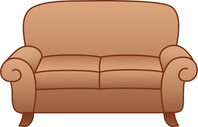 Bedroom clipart couch. Sofa chair clip art