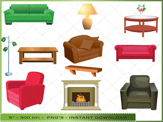 bedroom clipart couch