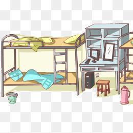 Bedroom clipart dormitory. Dorm png images vectors