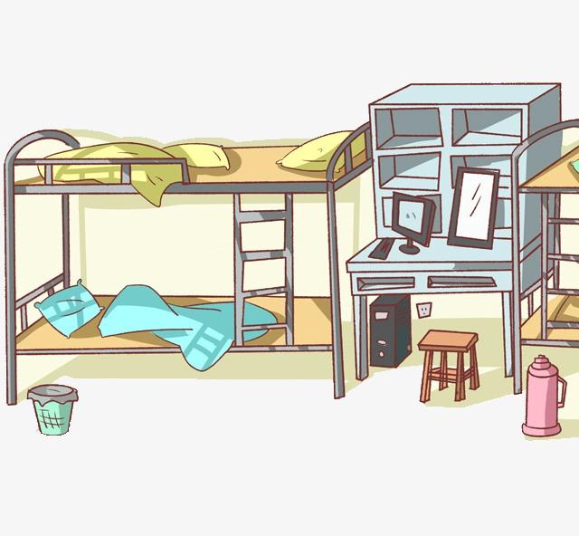 bedroom clipart dormitory