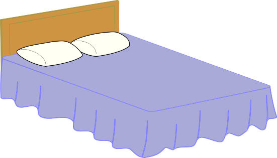 Free picture of. Bedroom clipart double bed
