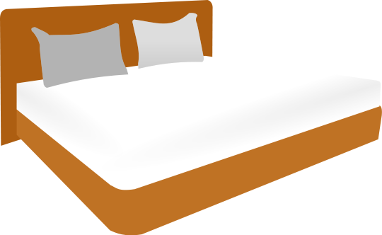 Bedroom clipart double bed. Household more beds png
