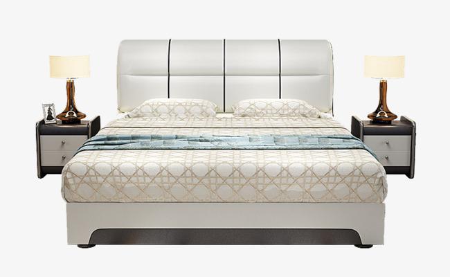 Mattress coconut palm coat. Bedroom clipart double bed