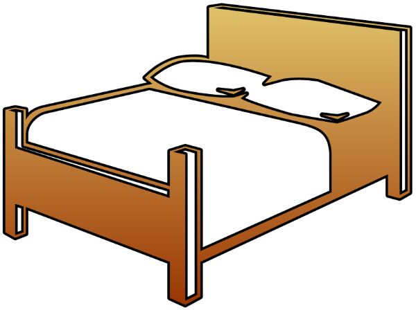 bedroom clipart double bed