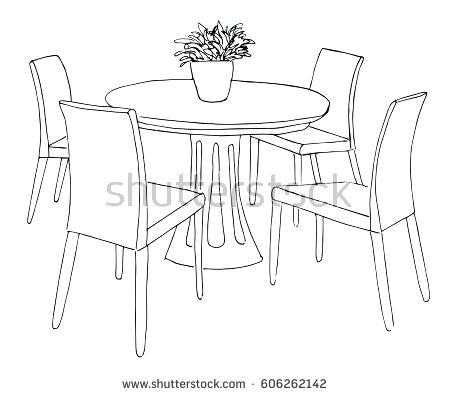 Bedroom clipart fancy. Dinner table black family