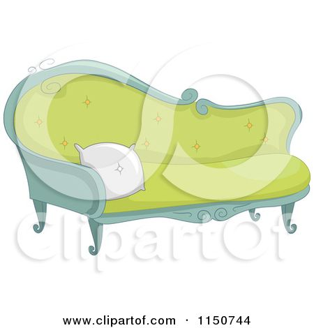 Couch drawing vintage sofa. Bedroom clipart fancy