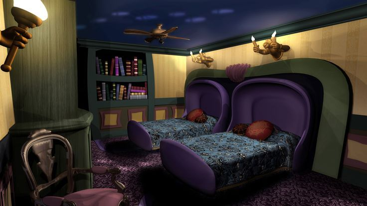 Mansion room at port. Bedroom clipart haunted