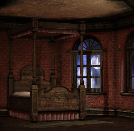 Bedroom clipart haunted. Room graphics butterflywebgraphics