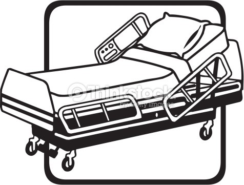 Bed silhouette at getdrawings. Bedroom clipart hospital