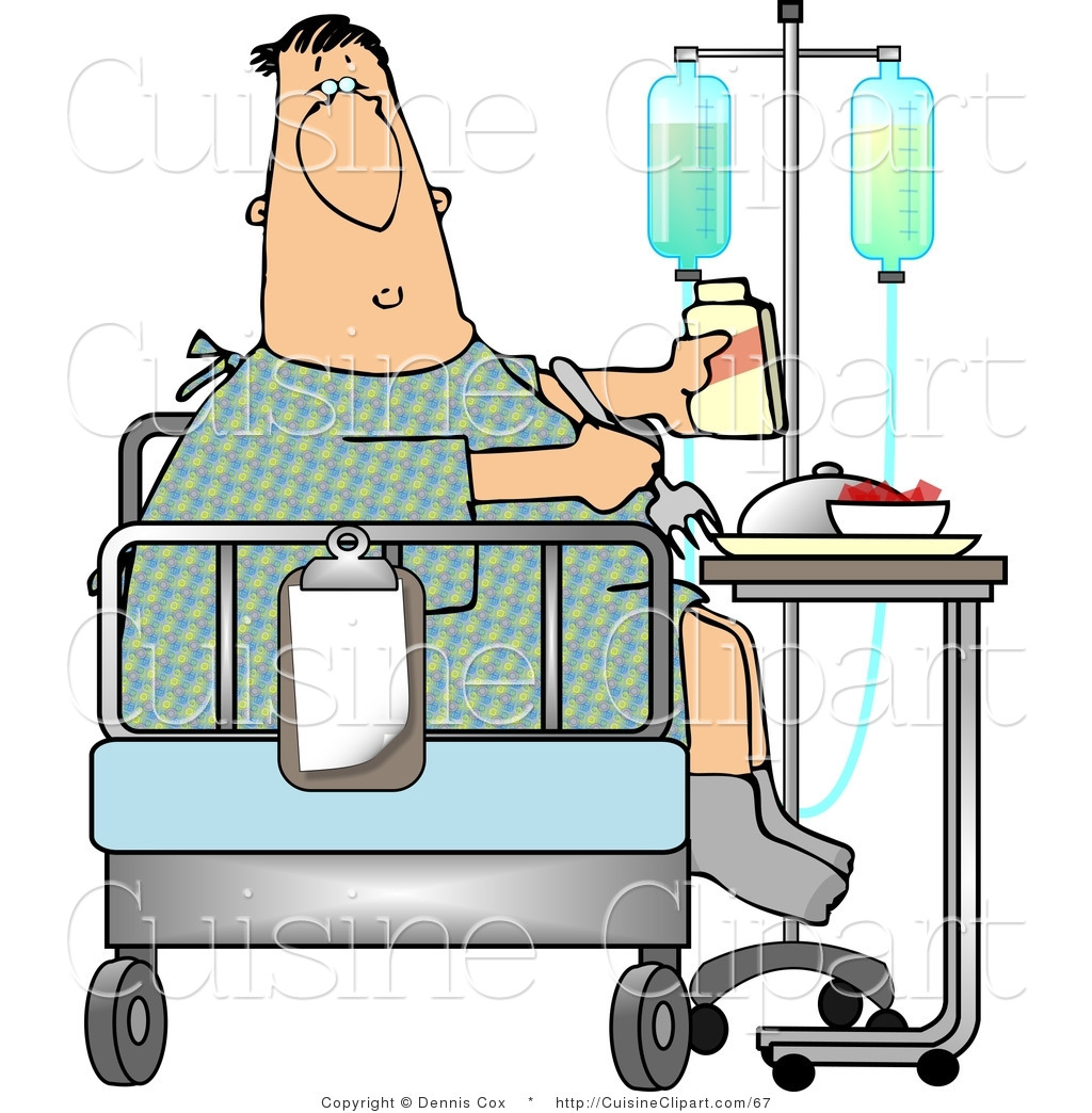 Bedroom clipart hospital. Patient in bed bangdodo