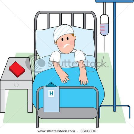 Bedroom clipart hospital. Cartoon person in bed