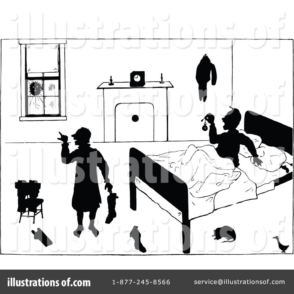 Bedroom clipart illustration. By prawny vintage royaltyfree