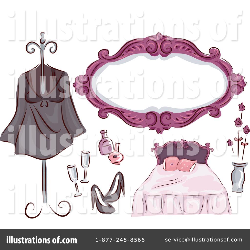 By bnp design studio. Bedroom clipart illustration