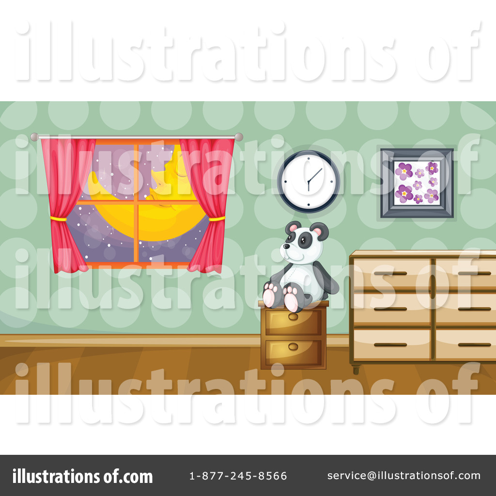 By graphics rf royaltyfree. Bedroom clipart illustration