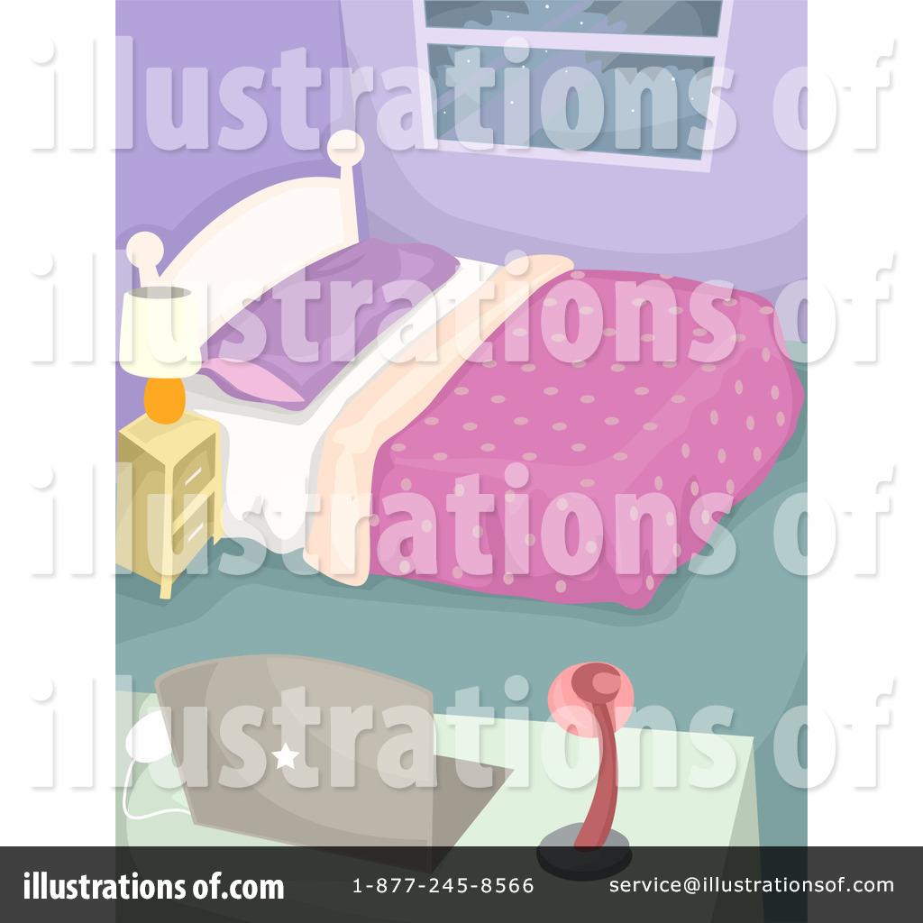 Bedroom clipart illustration. By bnp design studio