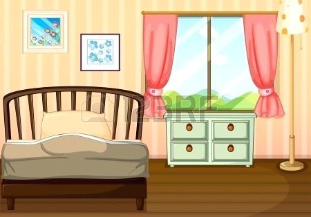 Empty cartoon a of. Bedroom clipart living room