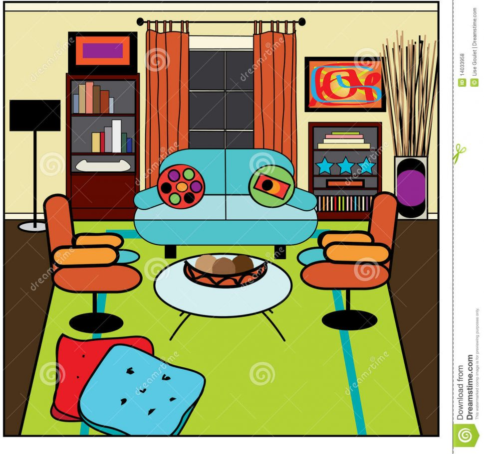 Bedroom clipart living room. Objects in the perfect