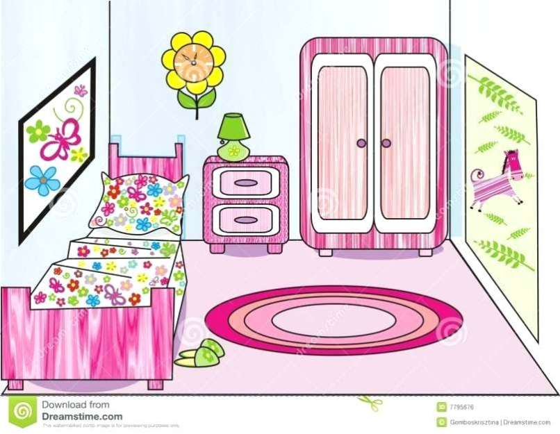 Bedroom clipart living room. Childrens free on