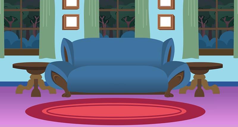 Cartoon transparent . Bedroom clipart living room