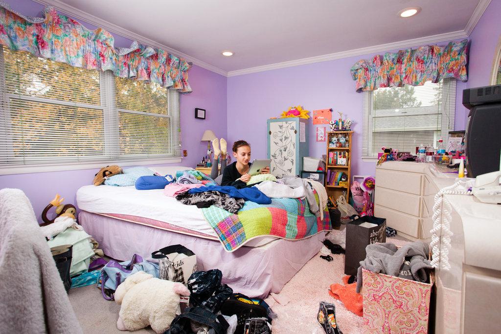 Bedroom clipart neat room. Teenage as battleground the