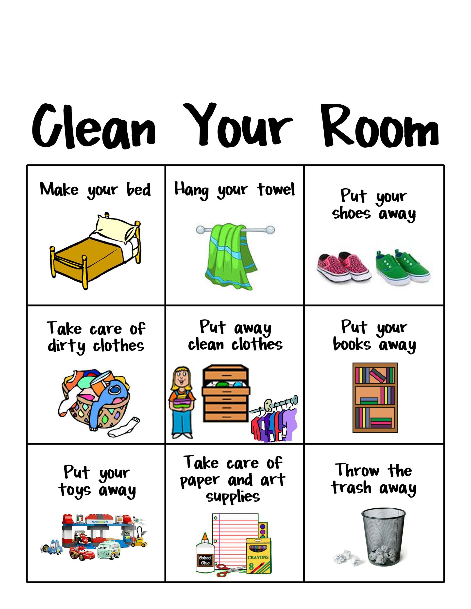 Bedroom clipart neat room. Displaying clean your chart