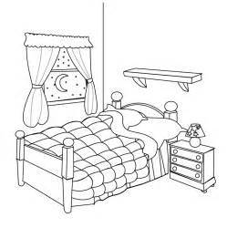 Bedroom clipart outline. Black and white kids