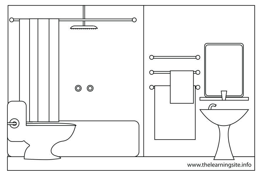 Pentium club. Bedroom clipart outline