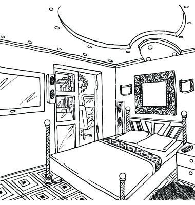 Bedroom clipart outline. Digitalstudiosweb com ayathebook