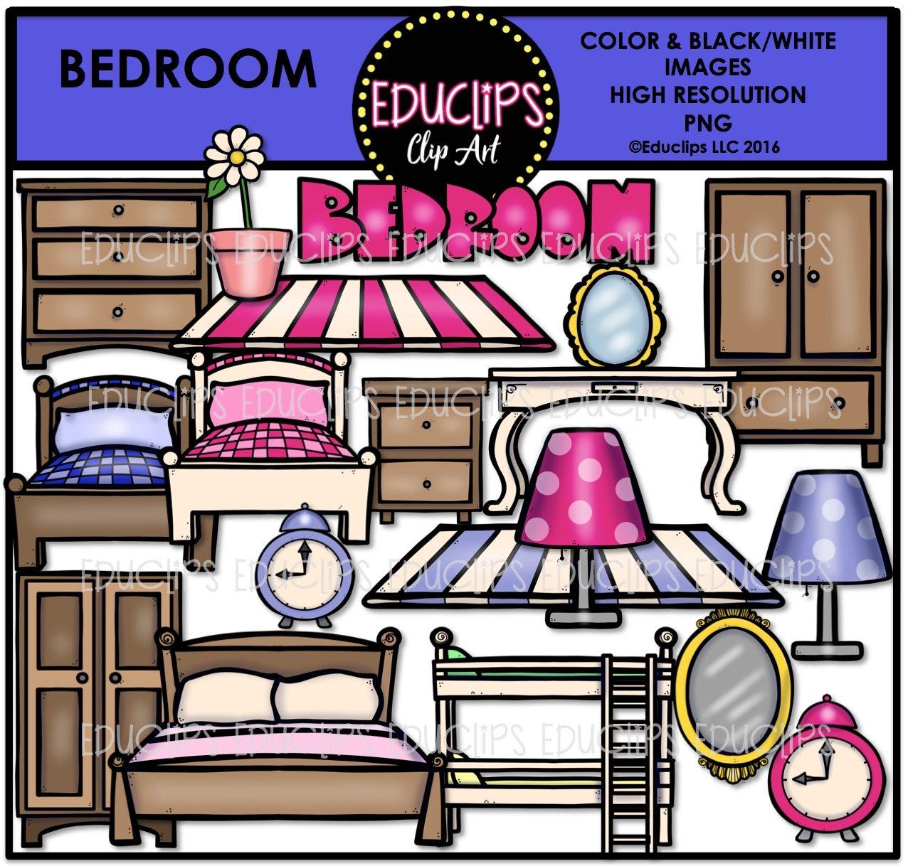 Bedroom clipart part house bedroom. Parts of a clip