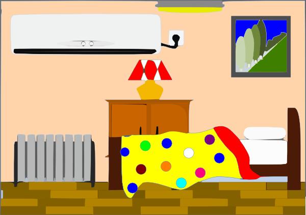 Bedroom clipart room decor. Kids cool interior design