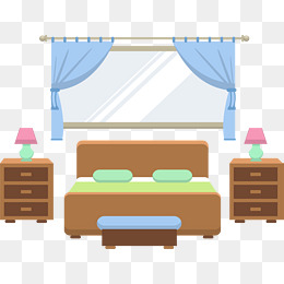 Big bed png images. Bedroom clipart simple