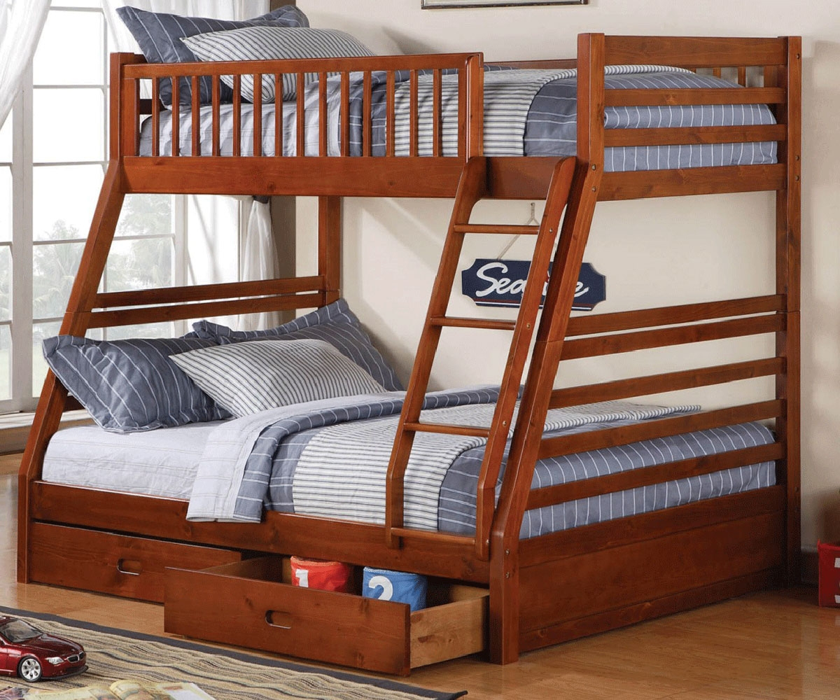 Bedroom clipart twin bed. Over full bunk with