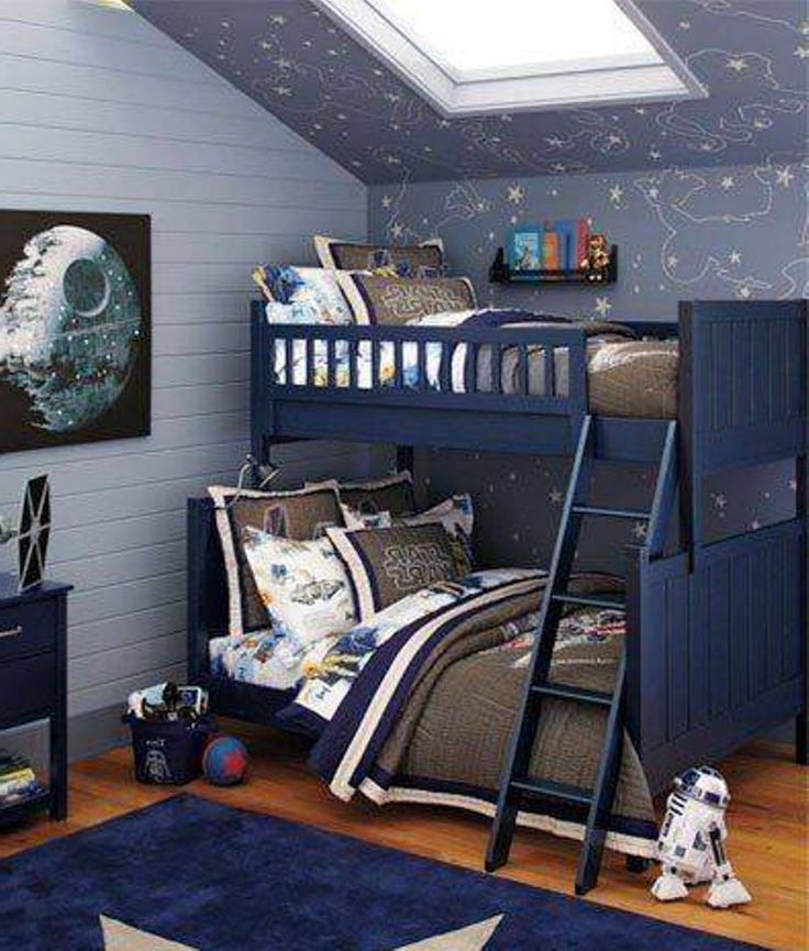 Bedroom clipart twin bed. Spaceship boys train room