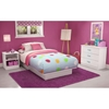 Libra low profile white. Bedroom clipart twin bed