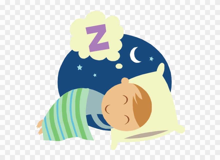 Bedtime clipart. Kids and sleep cartoon