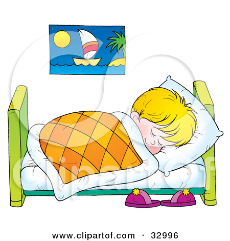 Blonde sleeping pencil and. Boy clipart bedtime