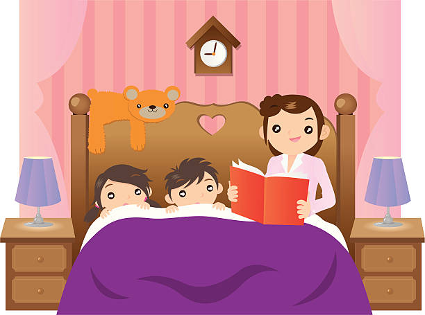 Bedtime station . Clipart bed story
