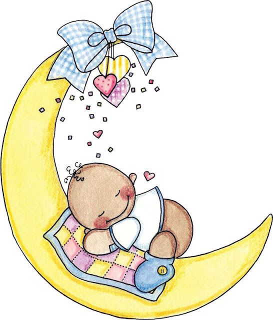 best vauva images. Baby clipart moon